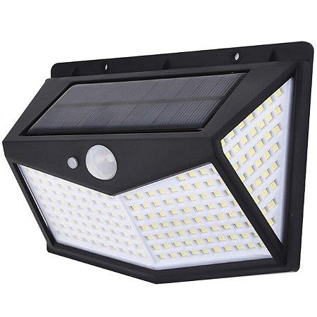 Luminária Solar 42w 212 Leds Sensor Presença Automático Ip65 Preto - 81724