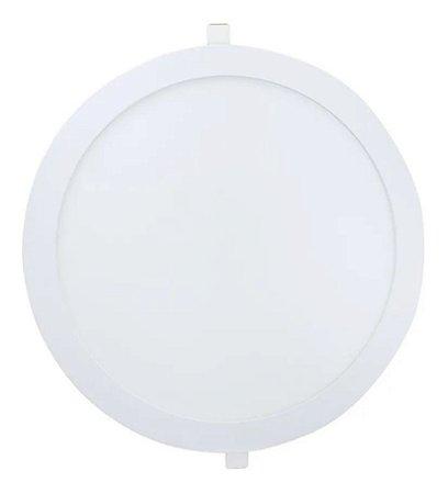 Painel Plafon Led 25w de Embutir Redondo - Branco Quente - 81536