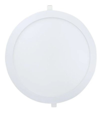 Painel Plafon Led 25w de Embutir Redondo - Branco Frio - 81536