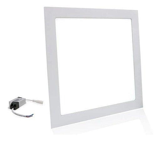 Painel Plafon Led 25w Quadrado Branco Embutir Gesso - Branco Quente - 81547