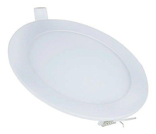 Painel Plafon de LED 12w Redondo de Embutir Branco Quente - 81672