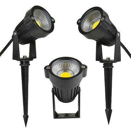 Espeto de Jardim LED 7W Bivolt IP65 Áreas Externas Branco Frio - 81903