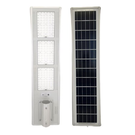Luminária Fotovoltaica Pública Solar LED 300w Branco Frio com Sensor - 84021