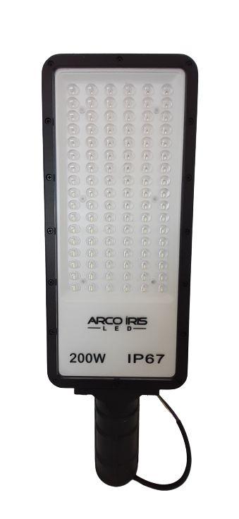 Luminária Retangular Micro LED 200W IP67 Para Poste Preta - 81163-1