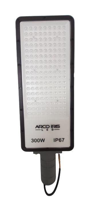 Luminária Retangular Micro LED 300W IP67 Para Poste Cinza - 81164