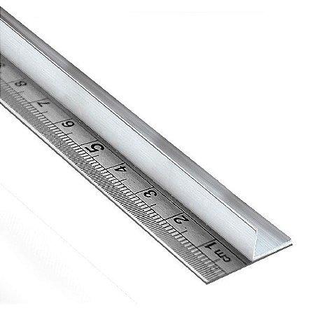 Régua de aço 100 cm com protetor para as mãos em alumínio