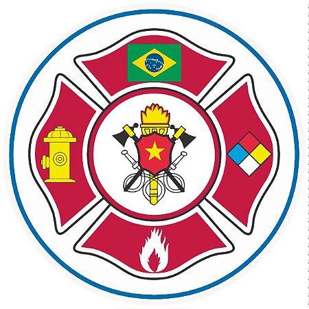 Brigada de incêndio / emergência pictograma modelo 2 - vinil adesivo para crachá ou capacete