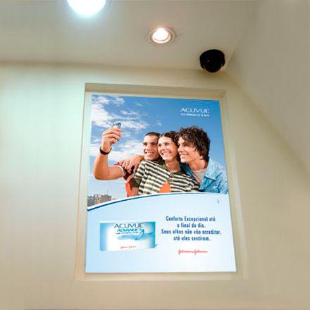 Placa em ps 2mm com aplicação de vinil adesivo