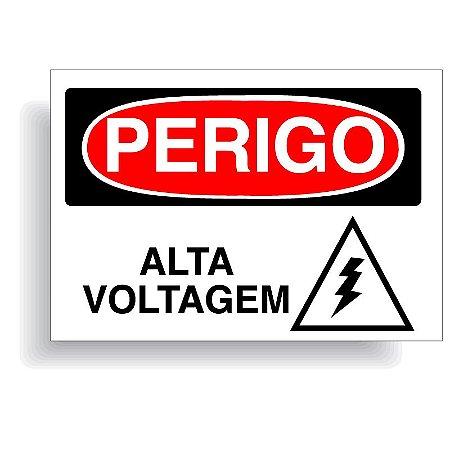 Perigo alta voltagem com opção em vinil adesivo ou placa