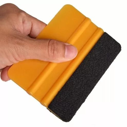 Espátula rígida com feltro para aplicação de vinil adesivo
