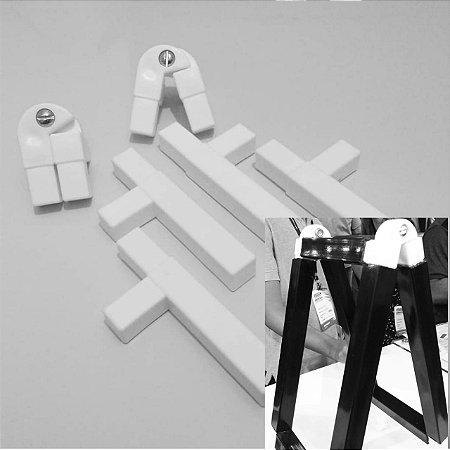Kit cavalete conexões em plástico para montagem estrutural de placas tipo cavalete promocional