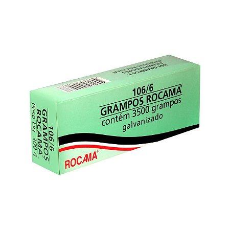 Grampos Rocama para grampeador 106/6 caixa com 3500 grampos