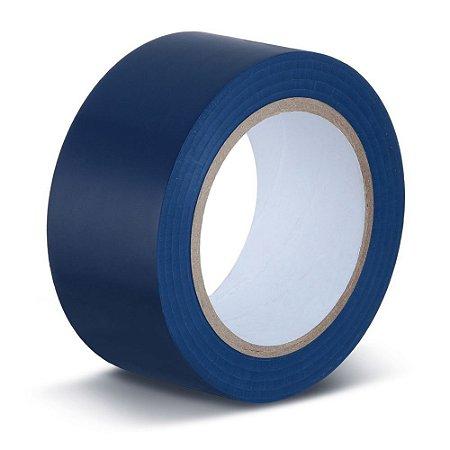 Fita para demarcação de solo azul 50 mm x 30 mt