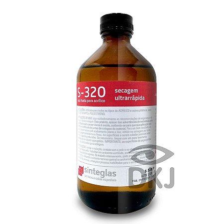 S-320 cola para acrílico de secagem ultra rápida 250 ml Sinteglas