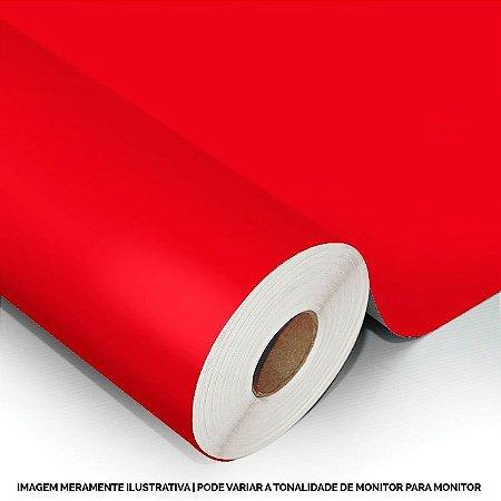 Interline - Vinil adesivo polimérico tomato red (vermelho tomate) brilho 61 cm de largura - Aplike