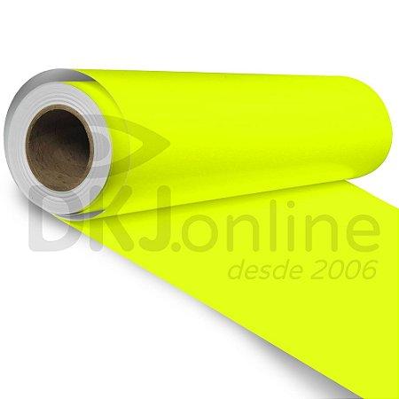 Vinil adesivo fluorescente amarelo 50 cm de largura - Aplike