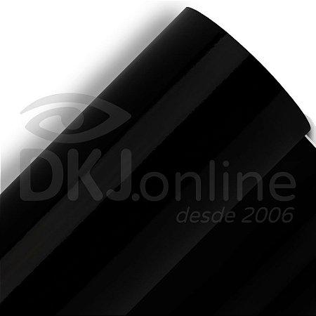 Interline - Vinil adesivo polimérico preto (black) brilho 122 cm de largura - Aplike