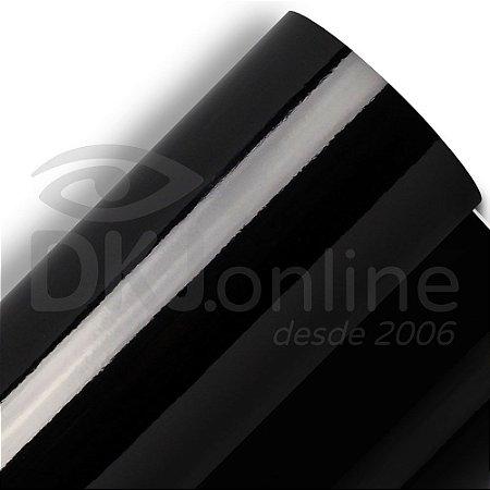 Aplikcar - Vinil adesivo automotivo alto brilho preto (black piano) 122 cm de largura - Aplike