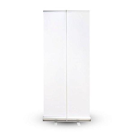 Roll up - porta banner de alto padrão em alumínio 120 x 200 cm