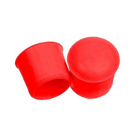 Ponteira plástica vermelha para banner e faixa 19 mm (3/4) 100 unidades