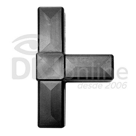 Conector T preto para estruturas de placas e cavaletes Pct com 10 unds