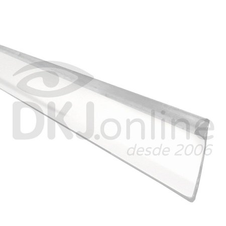 Perfil trim 13 mm branco para acabamento de letra caixa rolo com 50 mts