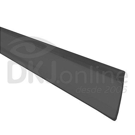 Perfil trim 19 mm preto para acabamento de letra caixa rolo com 50 mts