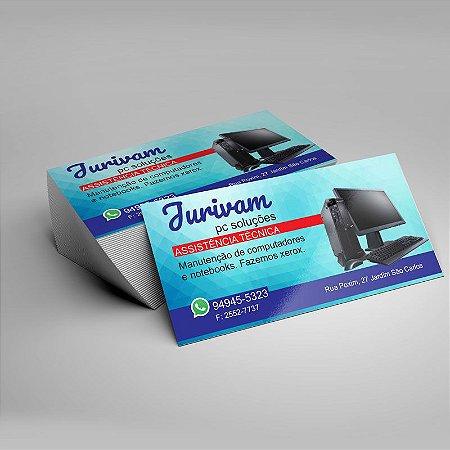 Cartão de visita 250 g 4x0 cores 9x5 cm com verniz total 1000 unds