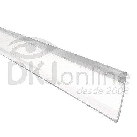 Perfil trim 16 mm branco em PVC com proteção U.V. para acabamento de letra caixa rolo com 50 mts