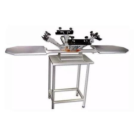 Impressora rotativa com dois berços e quatro garras com gabinete Metal Printer