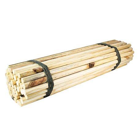 Bastão de madeira para banner 5/8 (16 mm) com 75 cm fardo com 50 unds