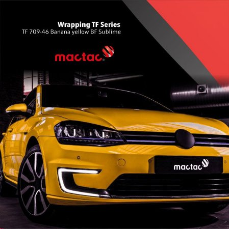 Vinil adesivo tunning wrapping TF series banana yellow BF sublime 1,52x25 mt Mactac