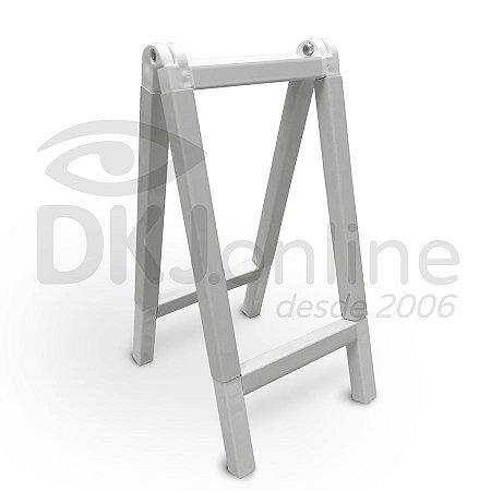 Cavalete 50x150 cm em PVC branco