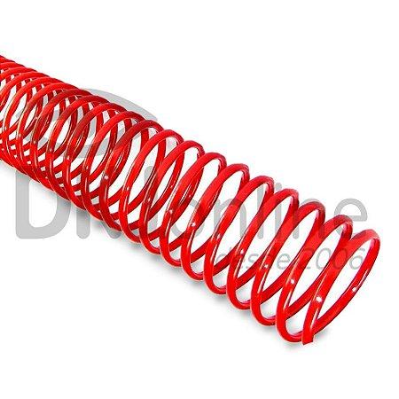 Espiral PVC para encadernação 14 mm vermelho pacote com 100 unidades - ideal para 85 folhas