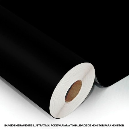 Interline - Vinil adesivo polimérico black (preto) brilho 61 cm de largura - Aplike