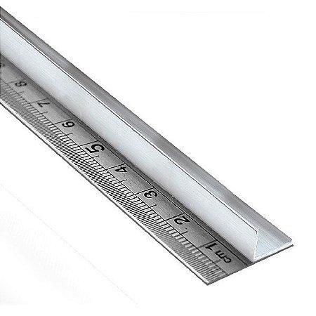 Régua de aço 60 cm com protetor para as mãos em alumínio