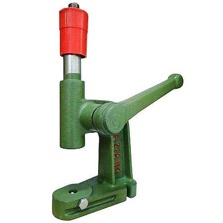 Máquina manual com alavanca para frente para aplicação de ilhoses, rebite e botões