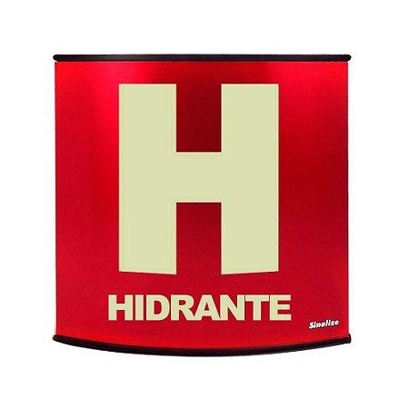 Placa fotoluminescente calandrada em alumínio 14 x 14 cm Hidrante