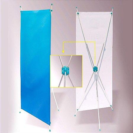 X-banner expositor ajustável 60-80 x 160-180 cm