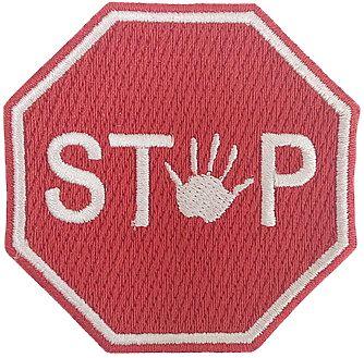 PLACA STOP MÃO