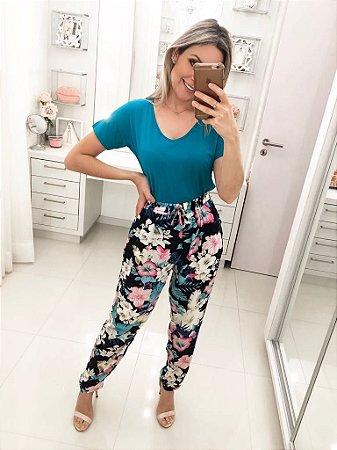 Calça Soltinha Flores