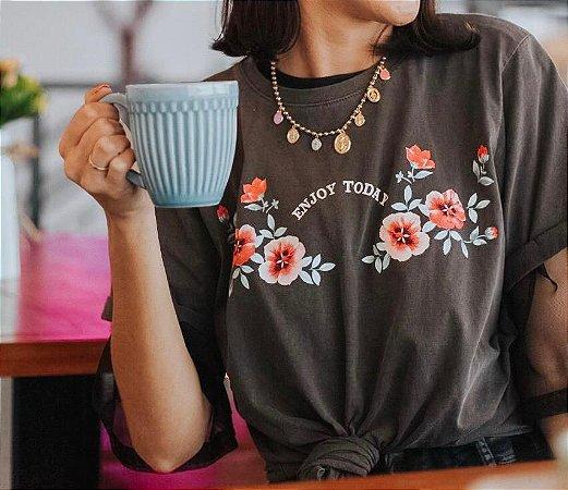 "T-shirt ""Aproveite hoje"""