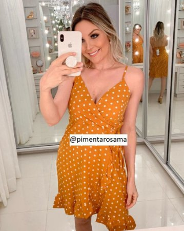 Vestido Transpassado Amarelo
