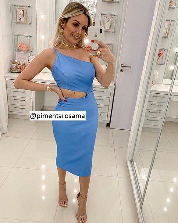 Vestido Bengaline Azul