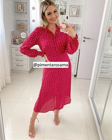 Camisa Poá Pink