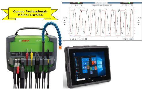 Combo Diagnostico Pro - Analisador De Motores FSA 500 Bosch + Tablet Industrial + Pinças De Medições Inclusas