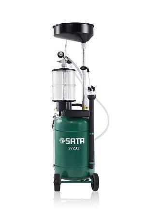 Coletor de Óleo de Motor Pneumático Com Recipiente de Inspeção - Sata - Capacidade 70 litros