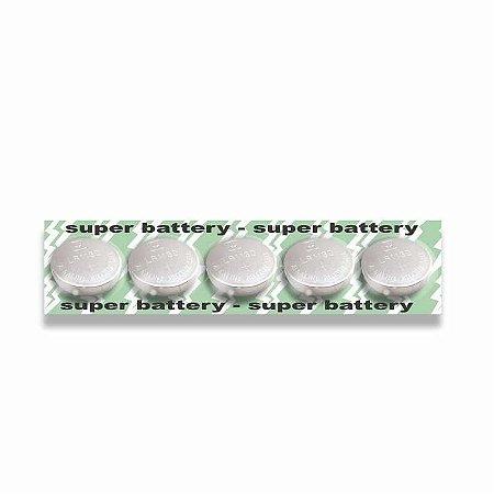 Bateria Para Vibrador GP189/ LR1130/ LR54/ AG10 Com 5 Unidades