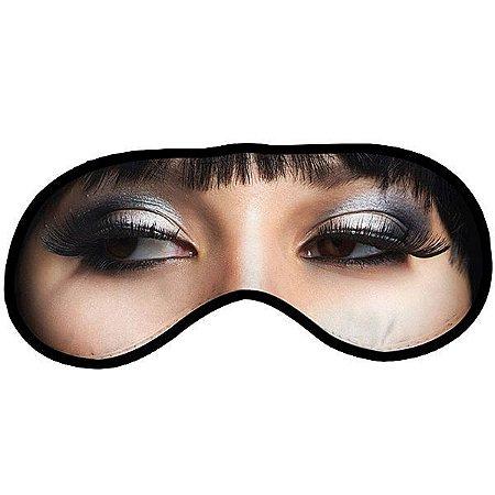 Máscara para dormir divertida - mulher morena