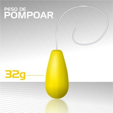 PESO DE POMPOAR SEXY TOOL 32G AMARELO